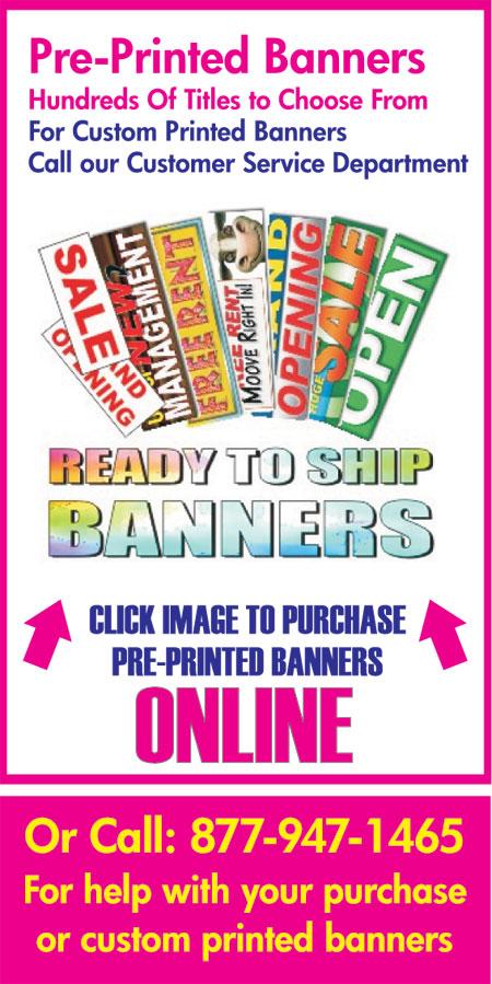 Atlanta Banners Pre Printed Banner Atlanta Vinyl Banners Atlanta - Vinyl banners atlanta